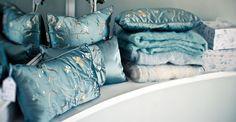 My bed silk pillows