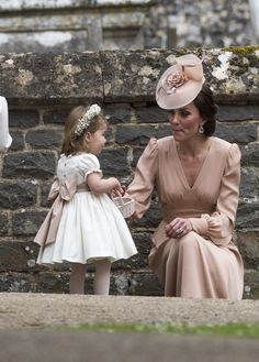 Duchess of Cambridge, Kate Middleton, and Princess Charlotte at Pippa's Wedding. More here: http://bumfuzzledmag.blogspot.pt/2017/05/pippas-wedding.html
