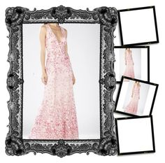 """2016 Soft Petal Combo Claudea V Neck BCBG Pageant Gown"" by susannelsone ❤ liked on Polyvore featuring BCBGMAXAZRIA"