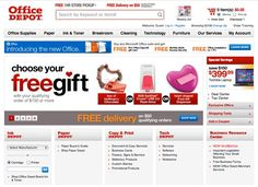 Office Depot's design is a good example of a website that puts customers into a funnel quickly.