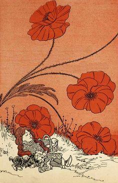 The Deadly Poppy Field - W. W. Denslow