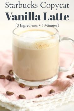 Coffee Drink Recipes, Starbucks Recipes, Starbucks Drinks, Coffee Drinks, Keurig Recipes, Starbucks Vanilla Latte, Starbuck Vanilla Latte Recipe, Vanilla Latte Recipes, Eating Clean