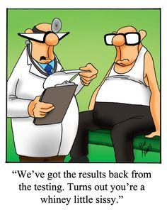 The doctor had just finished reading Brad Blanton's book. Funny Cartoons, Funny Comics, Funny Jokes, Hilarious, Cartoon Jokes, Archie Comics, Dad Jokes, Medical Humor, Nurse Humor