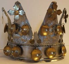 DigitaltMuseum - Krone Bridal Crown, Headgear, Crowns, Norway, Candle Holders, Candles, Candlesticks, Crown, Candelabra