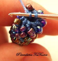Bead Crochet tutorial ♡ Teresa Restegui http://www.pinterest.com/teretegui/ ♡