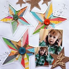 DJ Fox - by Paige Evans using product from American Crafts. #scrapbook