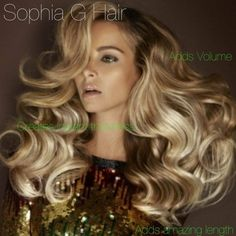 Sophia G Hair extensions create volume, thickness, and length in an instant!