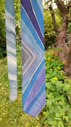 Fathers day, SILK necktie, Video, Handpainted 100% SILK, tie, Blue, Silver, unique gift father, giftpackaged, Ready to ship, classic, men Great Father, Gifts For Father, You Are The Father, Fathers, Unique Gifts For Men, Silk Ties, Blue And Silver, Special Gifts, Angels
