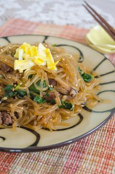 {Quick and Easy} Korean Skillet Jap Chae