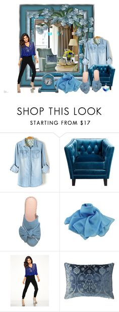 """shades of blue"" by snowmoon ❤ liked on Polyvore featuring Cyan Design"