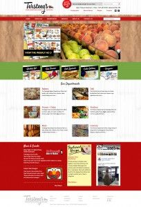 Website Design Portfolio - Tersteegs Grocery Store & Gas Station www.tersteegs.com