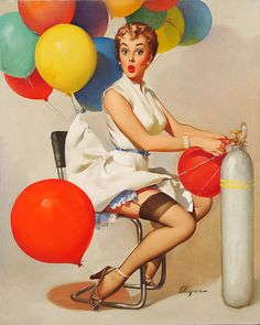Taking Off - Gil Elvgren 1955