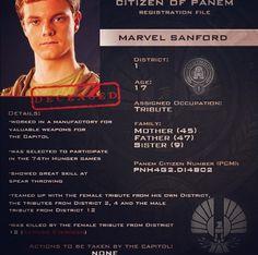 Citizen of Panem Registration File : Marvel