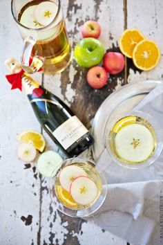 Champagne Apple Punch | The PERFECT Party Cocktail | FamilyFreshCooking.com