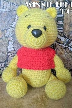 Crochet Teddy, Teddy Bears, Winnie The Pooh, Crochet Patterns, Toys, Blog, Amigurumi, Activity Toys, Winnie The Pooh Ears