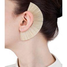 White Knight Ear Cuffs  by Bjorg  270 £ at Kabiri Jewelry Model, Hair Jewelry, Jewelry Shop, Jewelry Stores, Jewelry Art, Fine Jewelry, Jewelry Design, Designer Jewellery, Jewelry Accessories