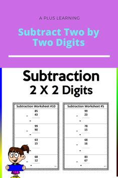 Math Resources, Math Activities, Subtraction Worksheets, Worksheets For Kids, My Teacher, Free Printables, Homeschool, Teaching, Products
