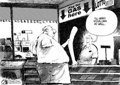 Funny car - Price of gas... #cars #cartoon #humor #funny