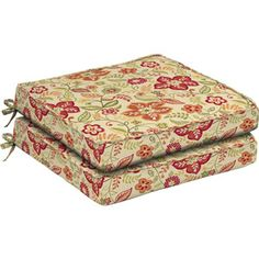 Better Homes and Gardens Dining Seat Outdoor Cushion, Set of 2, Pure Floral