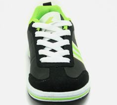 Black Synthetic Power Athletics Shoes For Boys