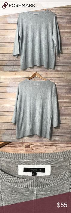 Lafayette 148 gray sweater Lafayette 148 gray sweater size:L. Very gently worn, no flaws. Lafayette 148 New York Sweaters Crew & Scoop Necks