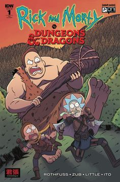 For Sale Comics :: Rick and Morty vs. Dungeons and Dragons by artist ** Variant Comics ** Dungeons And Dragons, Comic Art, Comic Books, Rick And Morty, Art For Sale, Cover, Cartoon, Comics, Artist