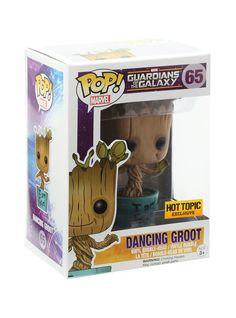 Funko Marvel Guardians Of The Galaxy Pop! Dancing Groot Vinyl Bobble-Head Hot Topic Exclusive   Hot Topic