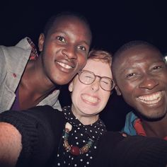 HALO intern, Rachel and boys from the Makerere Home in Uganda take a break from programming for a selfie.