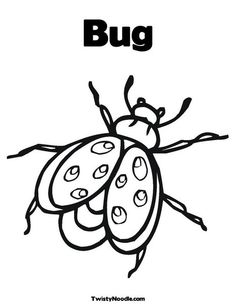 Bug Coloring Page from TwistyNoodle.com
