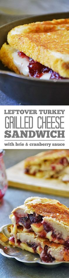 Besides the stuffing, one of the best things about our Thanksgiving meal is the leftovers! My family LOVES sandwiches made with a little mayo, leftover turkey, and a sprinkling of salt. Deliciously boring, right?! I decided it was time to liven things up around here, so I made this Turkey Grilled Cheese with Cranberry and Brie. Our taste buds are giving thanks!