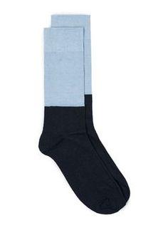 Chaussettes bleues à texture gaufrée par Selected Homme