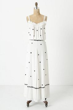 Mirror-Dotted Maxi Dress #anthropologie