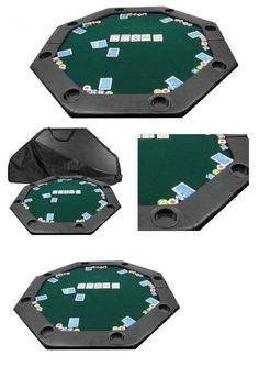 Card Tables And Tabletops 166572: 51 Folding Poker Table Top Layout Padded  Octagon Blackjack Texas