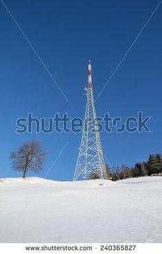#Winter #Landscape #Broadcasting #Tower #Mitterberg @Shutterstock #Shutterstock #snow #landscape #nature #view #outdoor #carinthia #austria #wonderland #bluesky #stock #photo #new #portfolio #download #hires