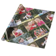 Create Your Own Custom Photo Collage Wrapping Paper Gold Christmas, Christmas Wrapping, Christmas Wedding, Christmas Birthday, Merry Christmas, Personalized Photo Gifts, Customized Gifts, Photo Collage Gift, Custom Wrapping Paper