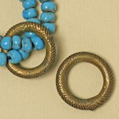 Antique Bronze Textured Ring Diameter 27-28mm