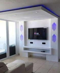Gypsum Bourd TV Units In Action  www.learndecoration.com