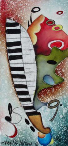 Original oil paintings of music, music artwork, guitar art, Jazz and Blues players by Virgil C. Stephens