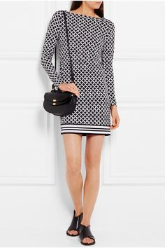 MICHAEL Michael Kors   Bermont printed stretch-jersey mini dress   NET-A-PORTER.COM