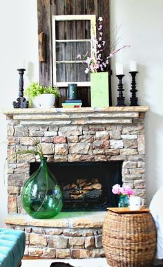 Spring Green Mantel