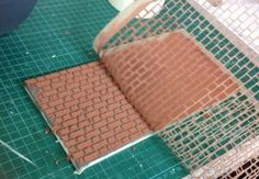 MINATURE: DOLLHOUSE: TIP: Use idea for set building -- How to brick you dollhouse Part 1 - Fairy Meadow Miniatures