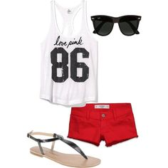 """casual summer"" by kendar-junk on Polyvore"
