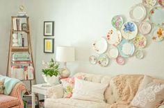 decorar la pared con platos