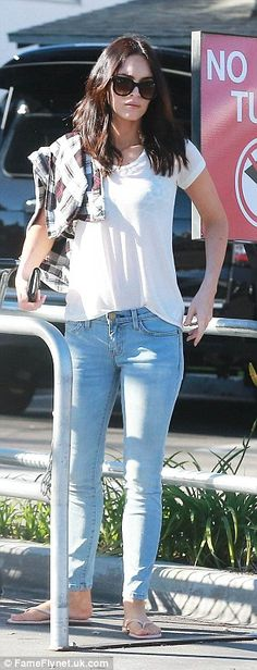 Yummy mummy: Megan Fox steps out for groceries at Whole Foods in Studio City on Tuesday after returning home from Japan