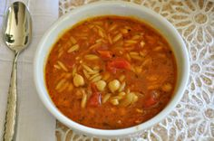 One of Ordinary Vegan's most popular soup recipes. You will love this 20-minutes to prepare garbanzo bean soup with tomatoes and pasta.