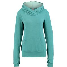 """Bench"" Aqua Green Cross Neck Hoodie - TK Maxx Tk Maxx, Aqua, Women Wear, Street Style, Hoodies, Green, Bench, Collections, Fashion"