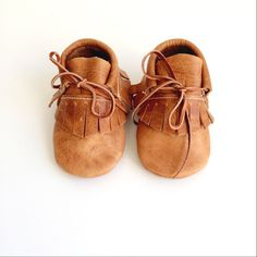baby moccasins booties / distressed caramel leather by ullaviggo on Etsy https://www.etsy.com/listing/207127231/baby-moccasins-booties-distressed
