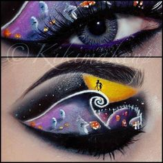 Discover and share the most beautiful images from around the world Holiday Makeup, Christmas Makeup, Halloween Face Makeup, Eye Makeup Art, Blue Eye Makeup, Eye Art, Creative Makeup, Unique Makeup, Eye Make Up