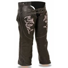 Milwaukee Pink Tribal Design Womens Leather Motorcycle Chaps