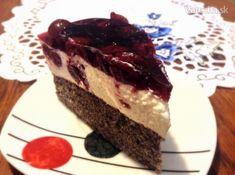 Tvarohovo-višňový koláčik (fotorecept)